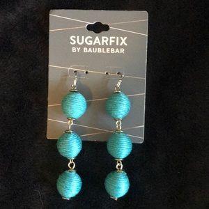 Sugarfix by Baublebar Dangle Ball Teal Earrings